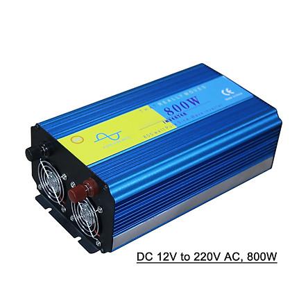 Power Inverter Vehicle Power Converter Universal Pure Sine Wave DC 12V to 220V AC, 800W