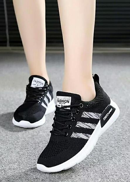 Giày Sneaker Nữ Hapu Sọc Chéo Tilami - 3SC01