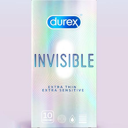 Bao cao su Durex Invisible Extra Thin Extra Sensitive (Hộp 10 Cái)
