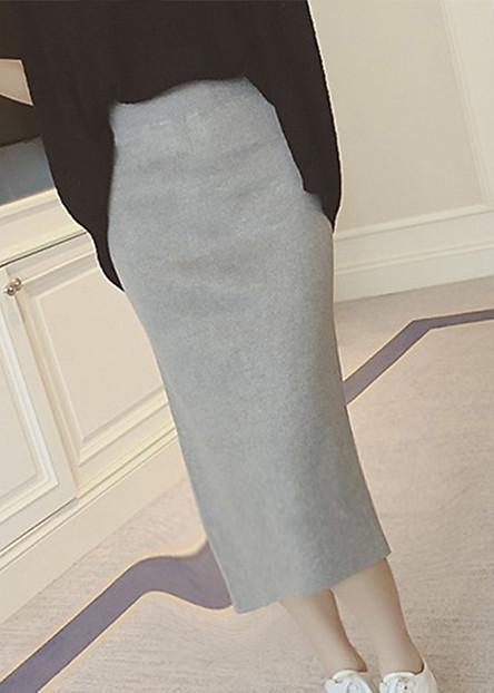 Chân váy bút chì xẻ tà nhiều màu cv02
