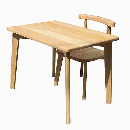 Bộ bàn ghế học sinh bằng gỗ panda 6 màu gỗ