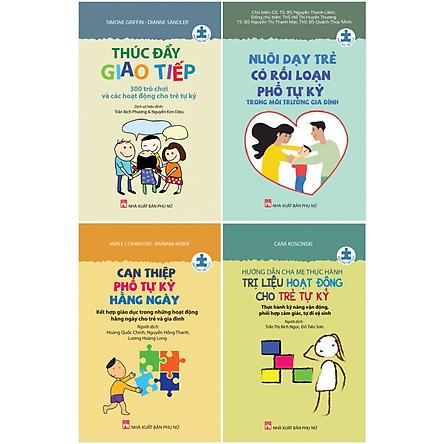 Combo series sách cho trẻ tự kỷ- Đồng hành cùng trẻ tự kỷ (bộ 4 cuốn)