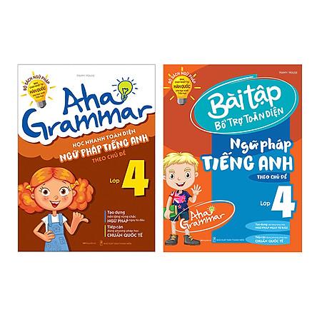 Combo 2 Cuốn Aha Grammar Ngữ Pháp Và Bài Tập Bổ Trợ Tiếng Anh Lớp 4