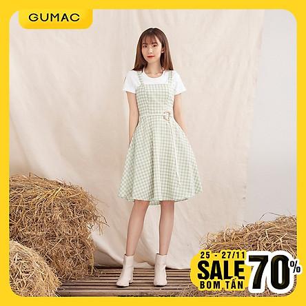 Đầm váy nữ DA10116 thiết kế xòe yếm hai dây phong cách trẻ trung thanh lịch toát được nét dịu dàng nữ tính                                                                                                                                                                                                                                                                                                                                                                                                                                                                                                                                                             GUMAC thiết kế xòe yếm 2 dây