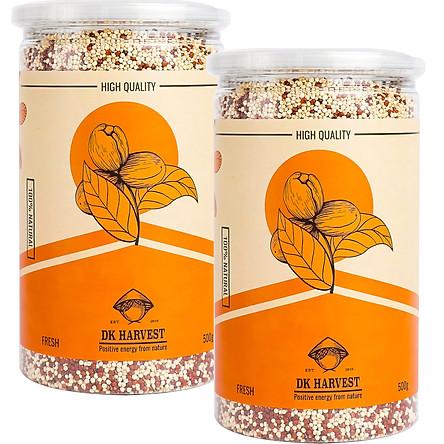 Hạt diêm mạch 2 màu (đỏ + trắng) DKHARVEST Mixed Quinoa - hàng nhập khẩu Úc