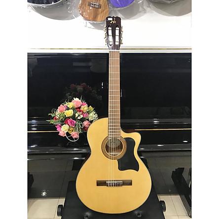Đàn guitar classic thùng eo khuyết MkC1351, size 4, vân gỗ, kèm bao da 3 lớp, 1 bộ dây dự phòng