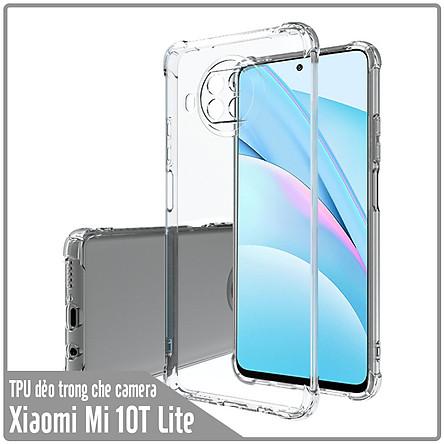 Ốp lưng cho Xiaomi Mi 10T Lite - Redmi Note 9 Pro 5G TPU Trong Suốt Che Camera