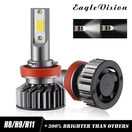 2PCS Mini Car LED Headlight Bulb H1 H7 H8/H9/H11 9005/HB3 9006/HB4 H4/HB2/9003 Hi/Lo 72W 10000LM 6000K Car Headlamp