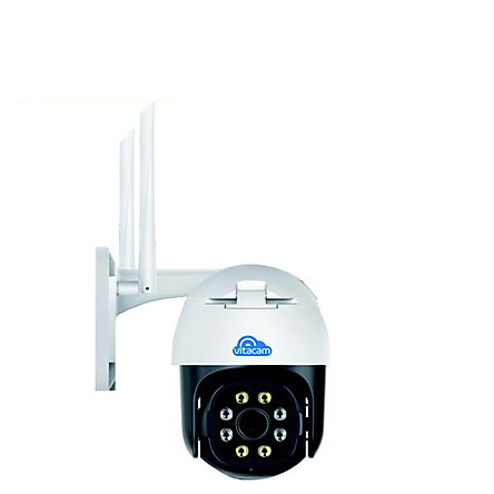 Camera IP Wifi ngoài trời VITACAM DZ3000 PTZ xoay 355 độ, 3.0Mpx 1296P hình ảnh ULTRA HD siêu nét - hàng chính hãng