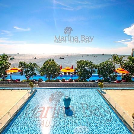 Marina Bay Vũng Tàu Resort & Spa 5* - Villa 02 Phòng Ngủ Sát Biển, Hồ Bơi Riêng Dành Cho 04 Người, Hồ Bơi Vô Cực Đẹp Xuất Sắc