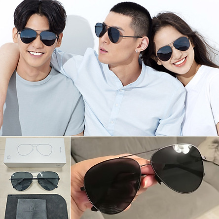 Xiaomi Ts Sunglasses Polarized Pilot Uv400 Protection Glasses Men Women Driving Eyeglasses For Outdoor Travel - Grey