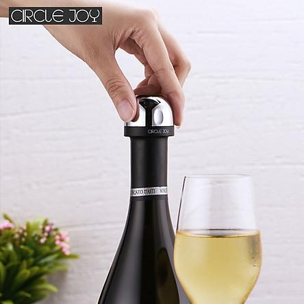 Uareliffe Circle Joy Mini Champagne Nắp đậy chai rượu Thiết kế khóa xoay , hút chân không hiệu quả bảo quản lâu dài , Dụng cụ giữ rượu