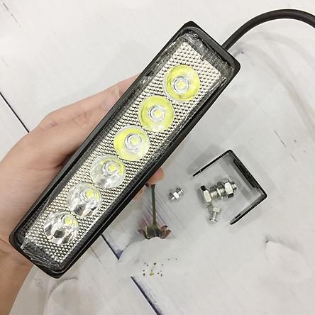 Đèn Trợ Sáng C6 Dài Trang Trí Ô Tô Xe Máy, Điện áp sử dụng 12V Ắc Quy, Công xuất 1 Led 18W - A213