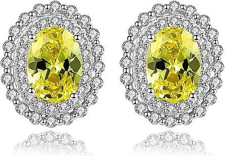 Bông tai bạc S925 hàn quốc nữ dáng bông tai nữ bạc ôm sát tai đính đá cao cấp thật B2373 Bảo Ngọc Jewelry