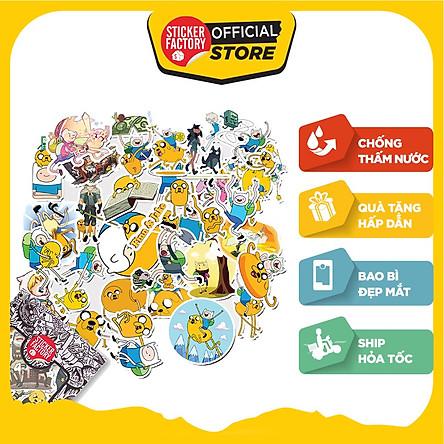Finn and Jake - Set 30 sticker hình dán