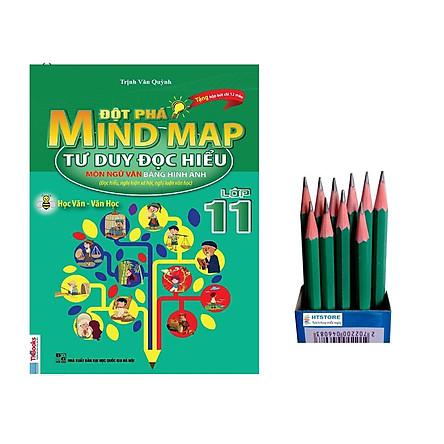Ngữ Văn 11: Đột phá mind map - tư duy đọc hiểu môn ngữ văn bằng hình ảnh lớp 11 ( tặng kèm 12 cái bút chì)