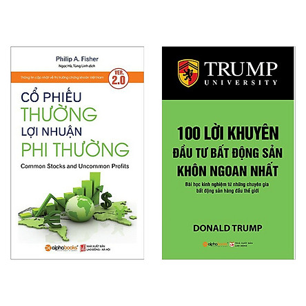 Combo 2 cuốn sách kinh tế hay: Cổ Phiếu Thường, Lợi Nhuận Phi Thường + 100 Lời Khuyên Đầu Tư Bất Động Sản Khôn Ngoan Nhất ( Tặng kèm Bookmark Happy Life)