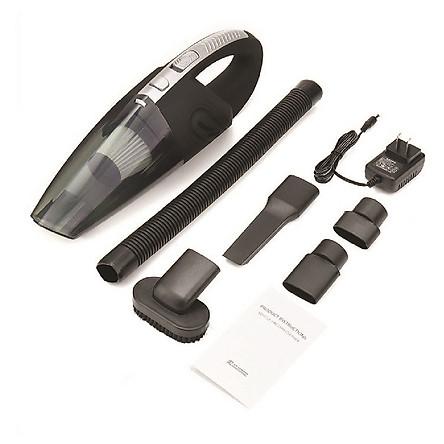 Máy hút bụi cầm tay không dây loại sạc pin dùng cho gia đình - lực hút 3200kpa - dung lượng 2200mAh - có thể hút bụi khô và nước - màu xám đen - Hàng Chính Hãng