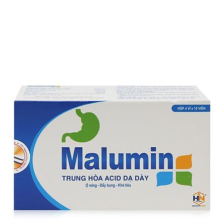 Thực phẩm chức năng bảo vệ sức khỏe MALUMIN trung hòa axit dạ dày, giảm ợ hơi, ợ chua, ợ nóng