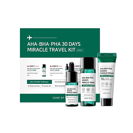 Bộ Kit 3 Món Du Lịch Some By Mi AHA-BHA-PHA 30 Days Miracle Travel Kit