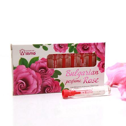 Nước hoa tinh dầu hoa hồng Bulgaria thương hiệu Lema  set 10 lọ chính hãng, hương hồng tươi nhẹ nhàng quyến rũ