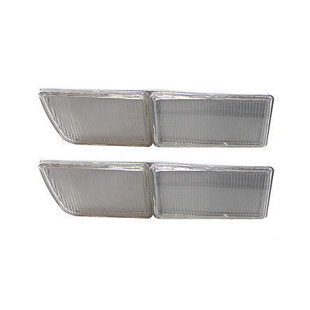 Pair of Front Bumper Towing Cover Indicator Reflector Plate for VW Jetta Golf Mk3 1993-1998