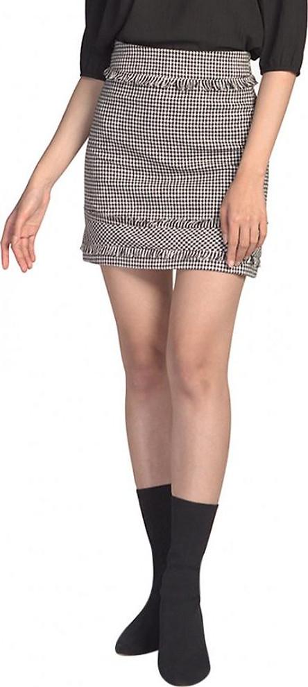 Chân Váy Nữ Mini Tweed Tua Rua De Leah Z1806111Trd