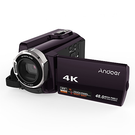 Máy Quay Có Kết Nối Wifi Màn Hình Cảm Ứng Andoer HDV-534K (4K) (1080P FHD) (48MP) (Novatek 96660)