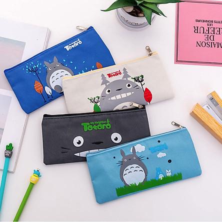 [COMBO 2 chiếc] Túi Vải Đựng Đồ Dùng Học Tập TOTORO - Túi Đựng Bút Viết Siêu Cute ( Phát màu ngẫu nhiên )