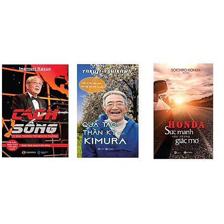 Combo 3 cuốn sách ước mơ: Honda - Sức Mạnh Của Những Giấc Mơ, Quả Táo Thần Kỳ Của Kimura, Cách Sống tặng sổ tay Vadata