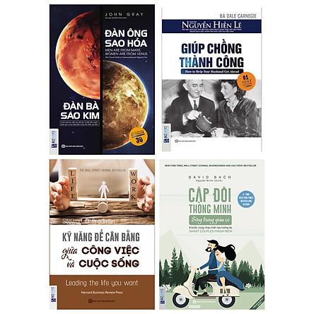 Combo 4 cuốn sách hay nhất dành cho các cặp đôi mới cưới(tặng cuốn Tìm hiểu con chúng ta)