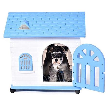 Nhà nhựa cho chó mèo A36 - giao màu ngẫu nhiên