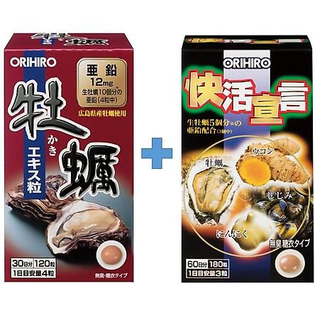 Combo Tinh chất hàu tươi Orihiro và Tinh chất hàu nghệ tỏi Orihiro Vivacity Nhật Bản