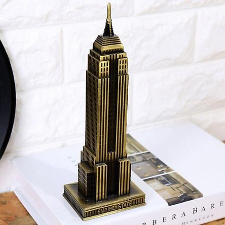 Mô hình tòa nhà Empire State cao 18 cm - Vàng rêu
