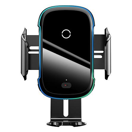 Bộ đế giữ điện thoại dùng trên xe hơi Baseus Light Electric Holder Wireless Charger 15W - Hàng chính hãng