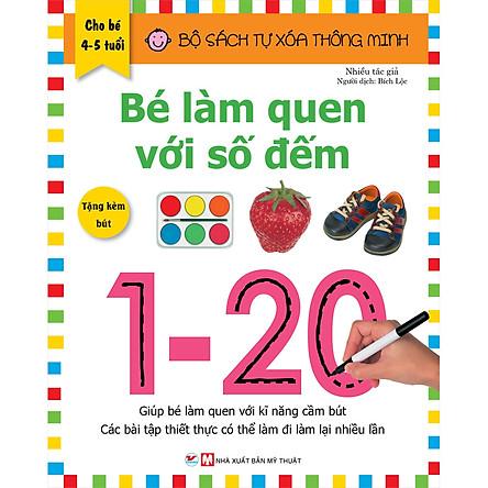 Bộ Sách Tự Xóa Thông Minh - Bé Làm Quen Với Số Đếm                            (4-5 Tuổi) - Tặng Kèm Bút