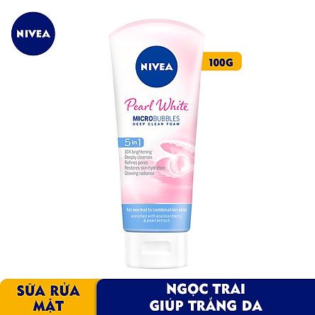 Sữa rửa mặt NIVEA Pearl White giúp trắng da ngọc trai (100g) - 81295
