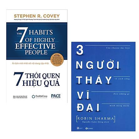 Combo 2 Cuốn Sách Kỹ Năng Làm Thay Đổi Cuộc Đời: 7 Thói Quen Hiệu Quả (Tái Bản) + Ba Người Thầy Vĩ Đại (Tái Bản) / Những Cuốn Sách Kỹ Năng Hay Nhất Thời Đại (Tặng Kèm Bookmark Happy Life)