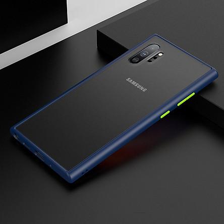 Ốp Lưng Trong Suốt Viền Shield Matte Color cho Samsung Galaxy Note 10 Plus