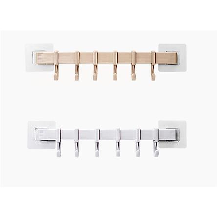 Combo 2 Thanh treo đồ dán tường,tủ quần áo, nhà bếp, có 6 móc chịu lực (giao màu ngẫu nhiên) GD263-MTSC-Thanh2