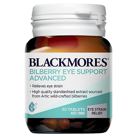 Blackmores Bilberry Eye Support Advanced 30 Tablets
