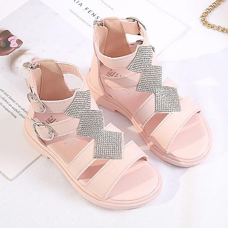 Dép sandal bé gái chiến binh cổ thấp siêu dễ thương SG30