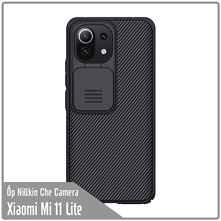Ốp lưng cho Xiaomi Mi 11 Lite Nillkin CamShield che camera - Hàng Nhập Khẩu