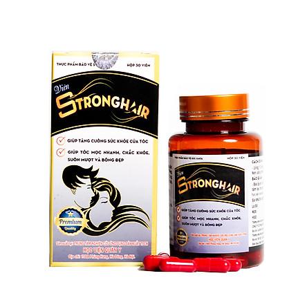 Viên Strong Hair Học Viện Quân Y sản xuất giảm rụng, kích mọc tóc (30 Viên)