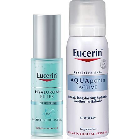 Tinh Chất Cấp Ẩm Chống Lão Hóa Eucerin Hyaluron - Filler Moisture Booster 30ml - 83524 Tặng Xịt Khoáng Aqua Porin Mist Spray 50ml