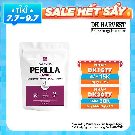 Bột Lá Tía Tô AKINA Sấy Lạnh DK Harvest - Siêu mịn như Matcha (10-20 micron)