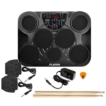 Bộ Trống Điện tử Alesis 7 Mặt Compactkit Ultra-Portable 7-Pad (Electronic Portable Digital Drum Kit - Nguồn, Dùi Trống, Pedal) - Hàng Chính Hãng Mỹ - Kèm Móng Gẩy DreamMaker