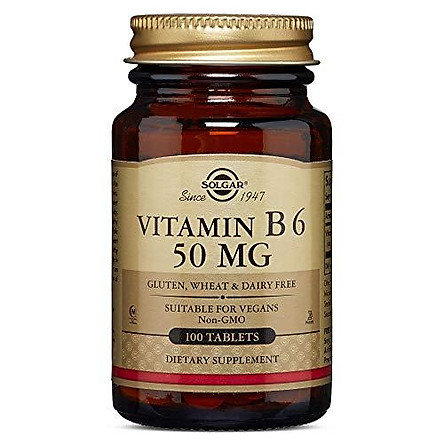 Solgar - Vitamin B6 50 mg, 100 Tablets