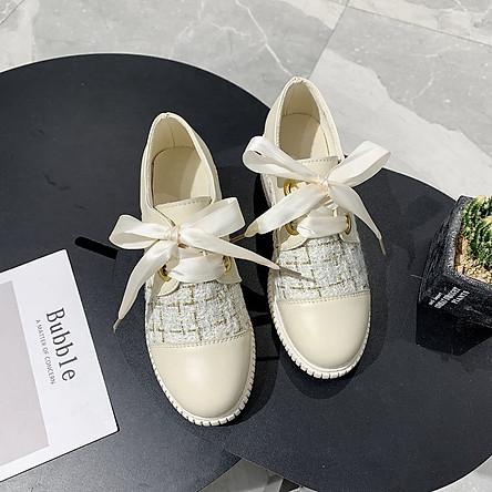 Giày Da Nữ Đế Dày 5cm Thời Trang Anh Quốc