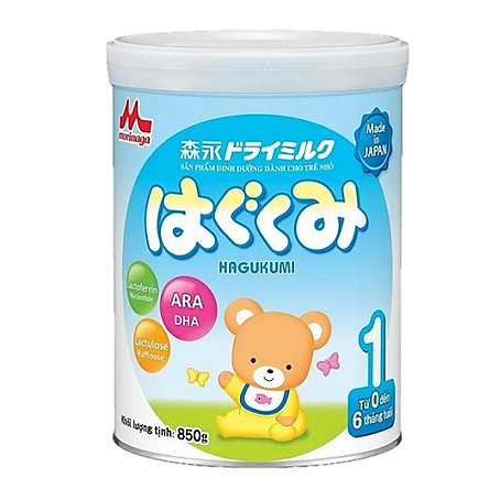 Sữa Bột Morinaga Hagukumi Dành cho trẻ  Số 1 (850g)